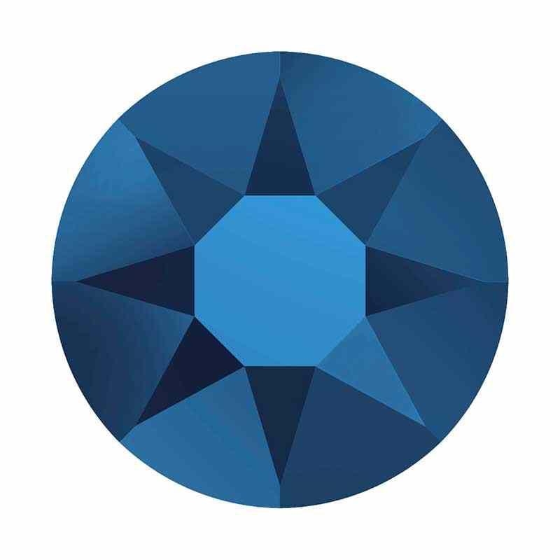 2028 SS 8 Crystal Metallic Blue HF (001 METBL) SWAROVSKI ELEMENTS