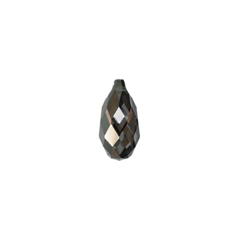 17x8.5MM Crystal Silver Night 'Z' Briolette Ripatsid 6010 SWAROVSKI ELEMENTS