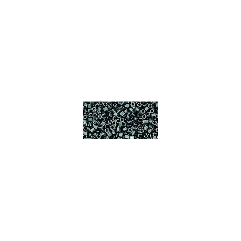 TC-01-81 Metallic Hematite 1.5mm TOHO cube beads