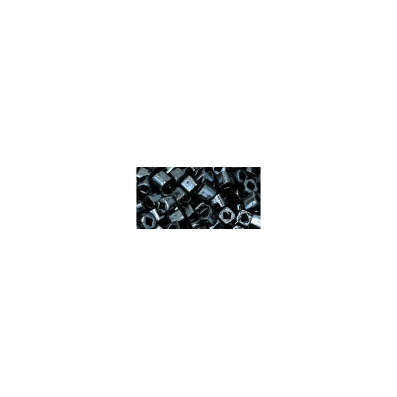 TC-03-81 Metallic Hematite 3mm TOHO cube beads