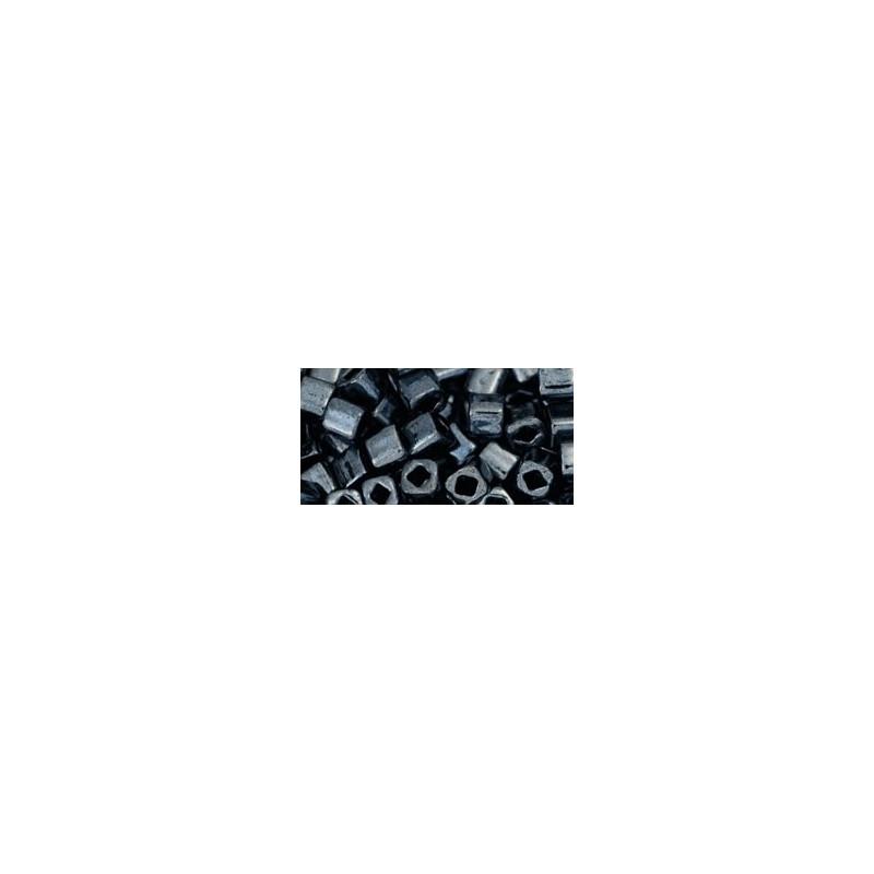 TC-04-81 Metallic Hematite 4mm TOHO cube beads