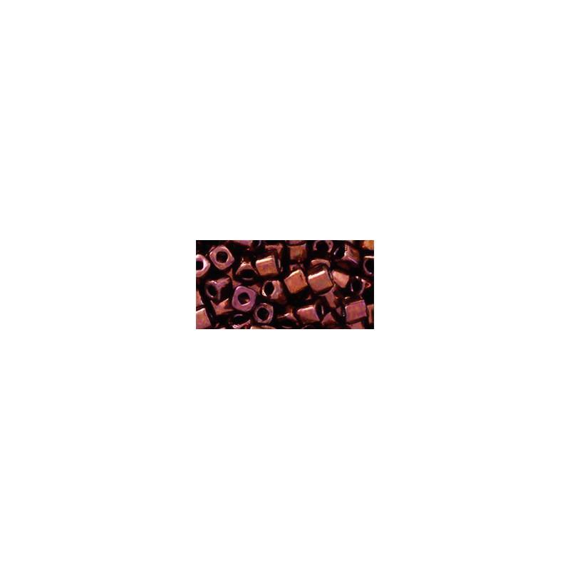 TC-04-222 Bronze Dark Bronze 4mm TOHO cube beads
