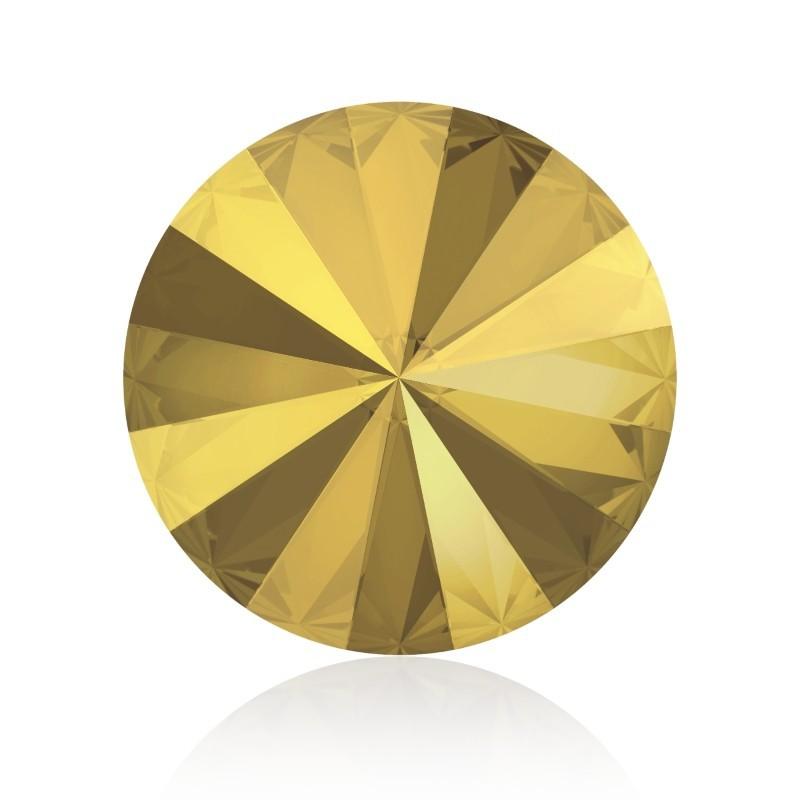 SS39 (~8.25mm) Crystal Metallic Sunshine F (001 METSH) 1122 Rivoli Chaton SWAROVSKI ELEMENTS