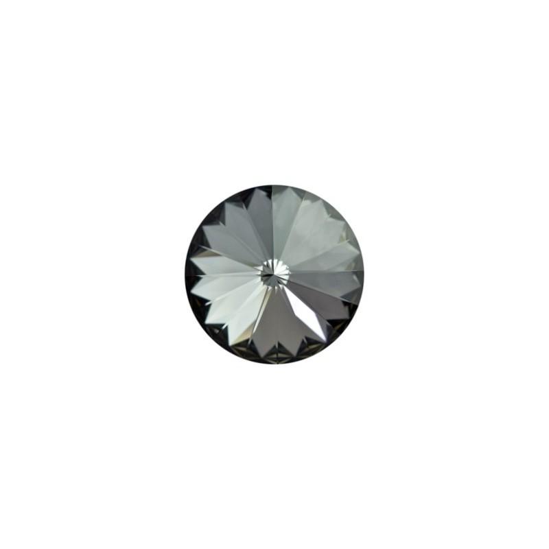 12MM Crystal Silver Night F (001 SINI) 1122 Rivoli Chaton SWAROVSKI ELEMENTS
