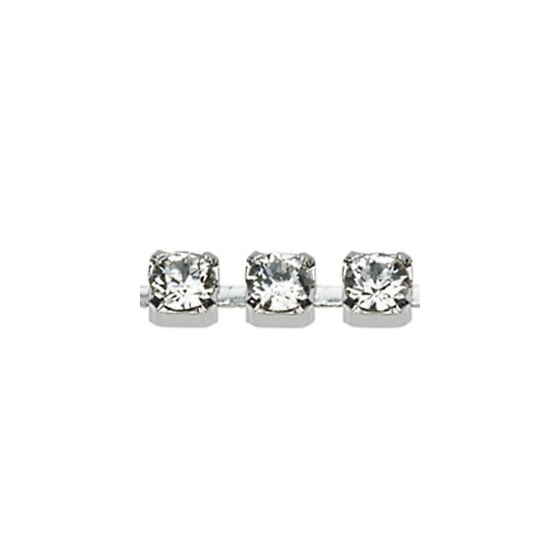 PP24(~3.2mm) Rhodium pinnatud kristall F (001) Swarovski Elements kett