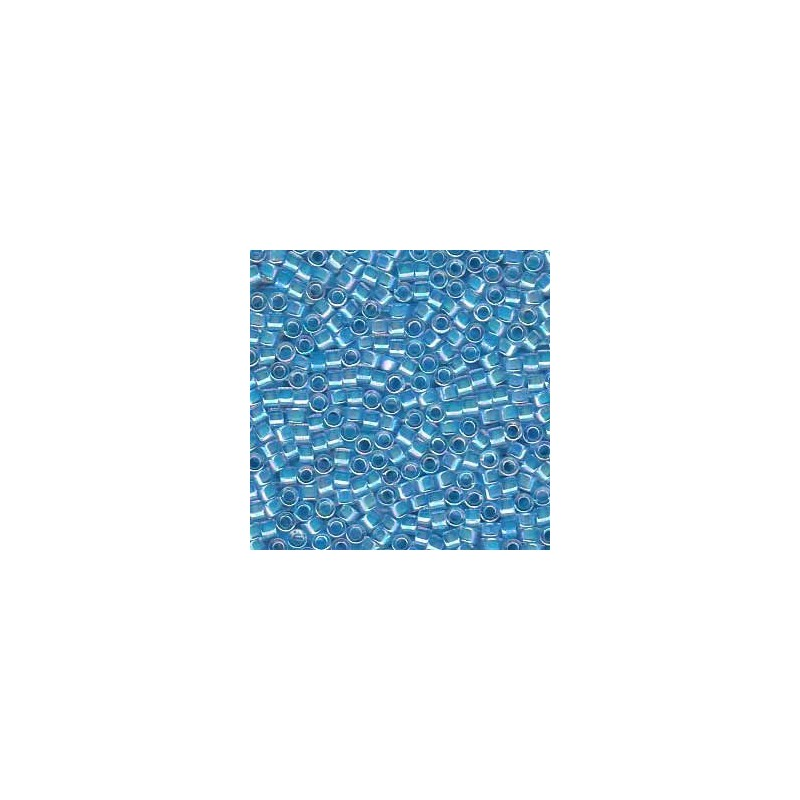 DB-76 Med. Blue-Lined Crystal AB Miyuki DELICA 11/0 seed beads