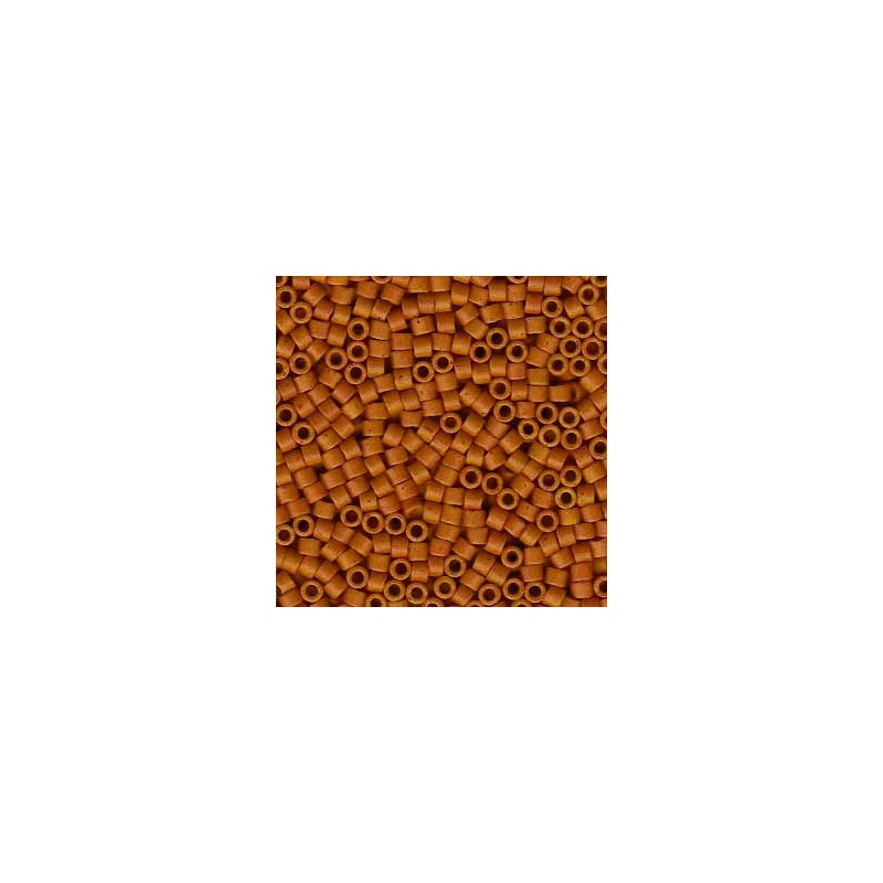 DB-653 Semi-Matte Dyed Opaque Pumpkin Spice Miyuki DELICA 11/0 seed beads