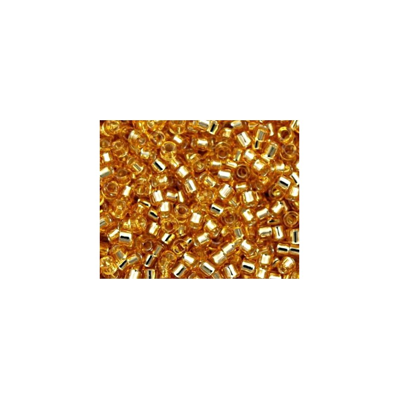 DBM-42 Silver Lined Gold Miyuki DELICA 10/0 seed beads