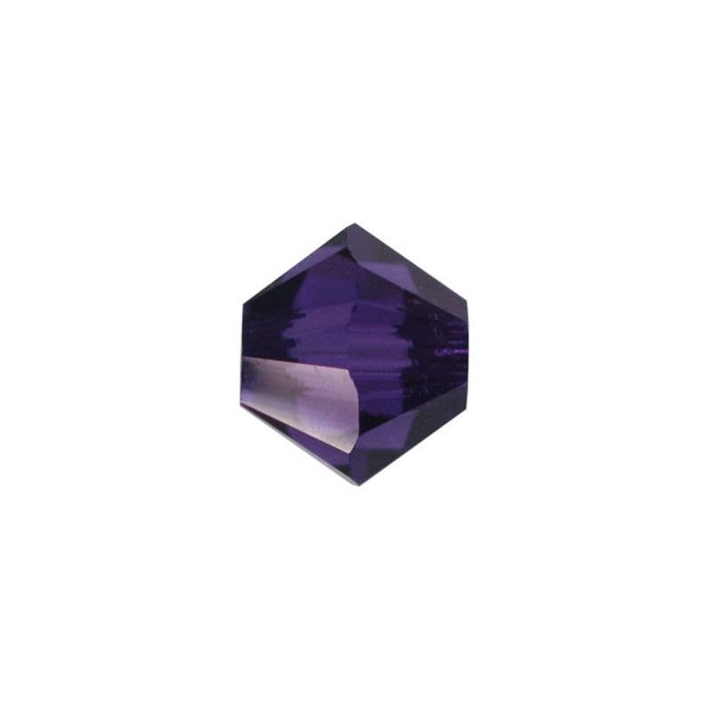 4MM Purple Velvet (277) 5328 XILION Bi-Cone Helmes SWAROVSKI ELEMENTS