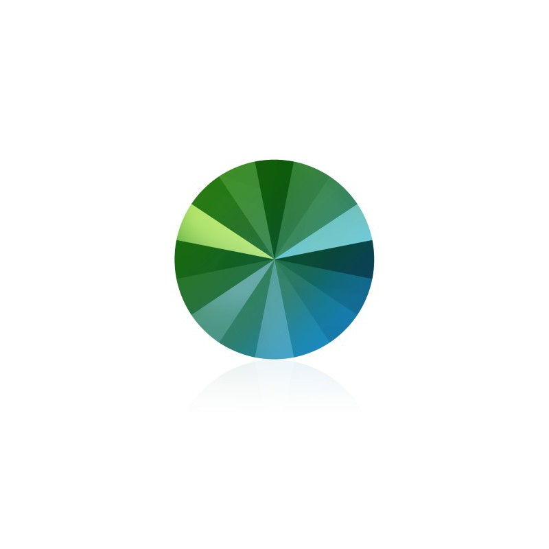 12MM Crystal Scarabaeus Green F (001 SCGR) 1122 Rivoli SWAROVSKI ELEMENTS