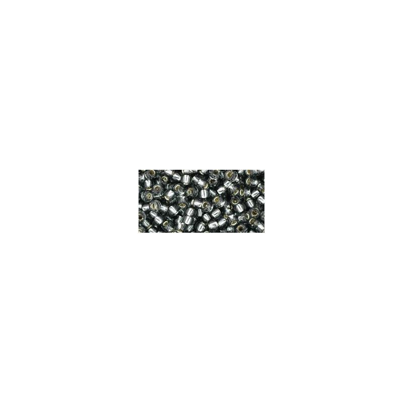 TR-08-29 Silver-Lined Black Diamond TOHO SEEMNEHELMED