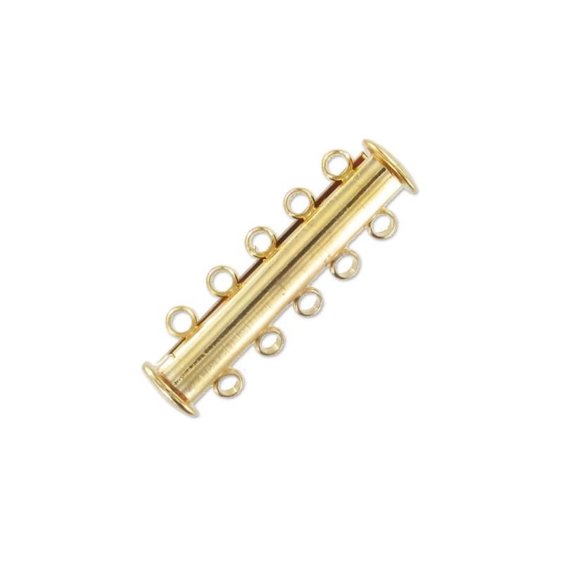 magnetic slider Hõbe toon 5 rida umbes 11x30mm