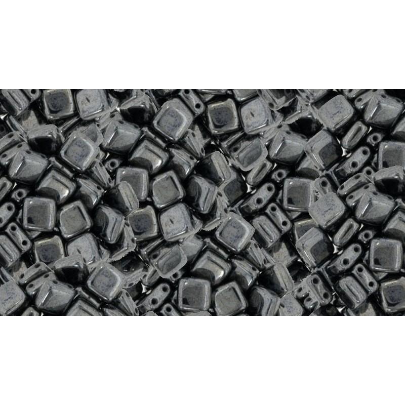 6mm Hematite CzechMates plaat (Tile) helmed