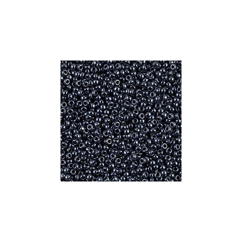 RR-11-451 Hematite Metallic Miyuki Ümmargused Rocailles 11/0