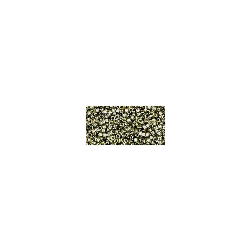 TT-01-457 Gold-Lustered Green Tea TOHO Treasures Seed Beads