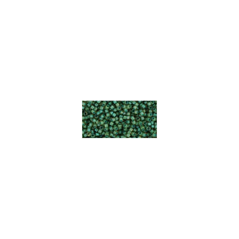 TT-01-952 Inside-Color Rainbow Light Topaz/Sea Foam Lined TOHO Treasures Seed Beads