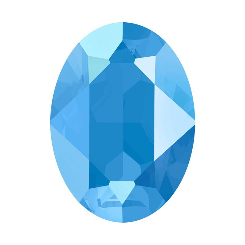 18x13mm Crystal Summer Blue (001 L114S) Oval Ehete Kristall 4120 Swarovski Elements