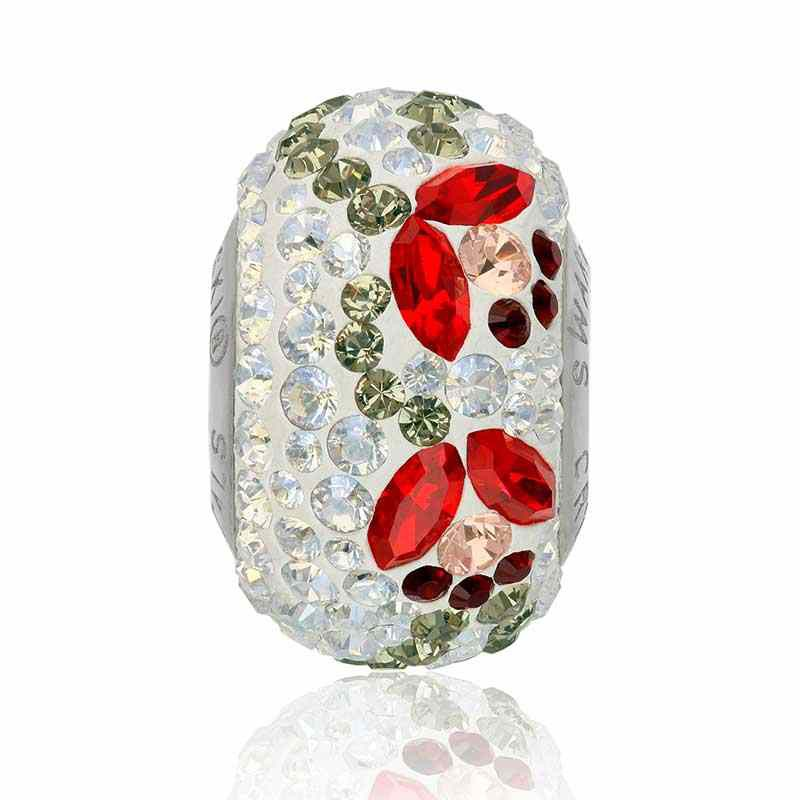 14mm BeCharmed Pavé Tulp 82125 Light Siam (227) Helmed Swarovski