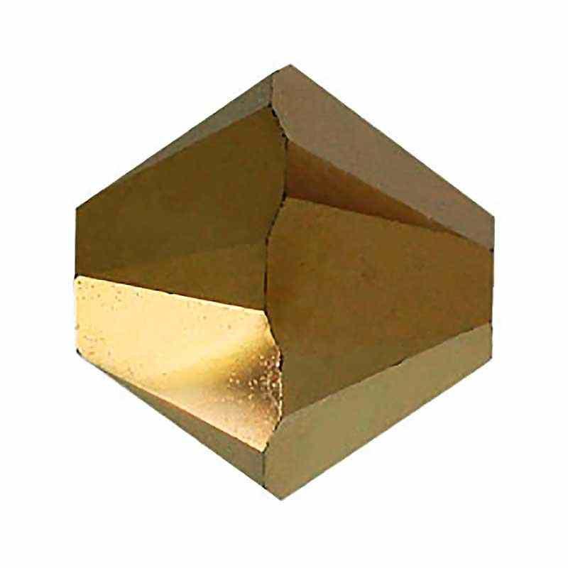 4MM Crystal Dorado 2x (001 DOR2) 5328 XILION Bi-Cone Бусины SWAROVSKI
