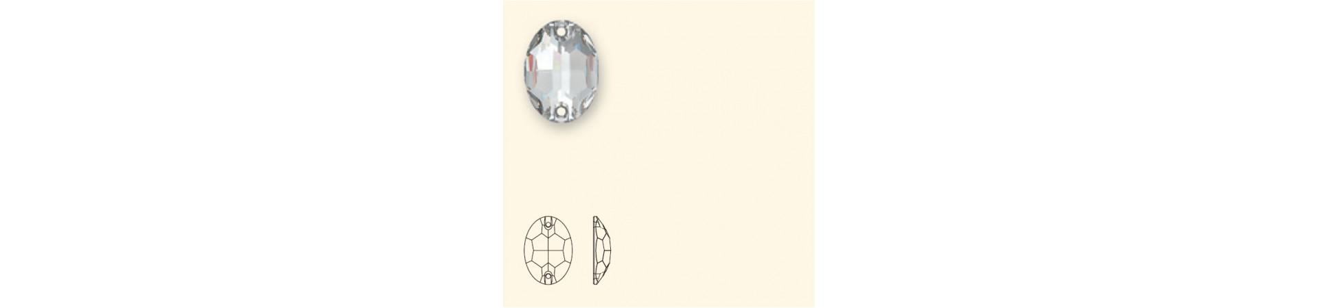 3210 Oval Õmmeldav Kristall