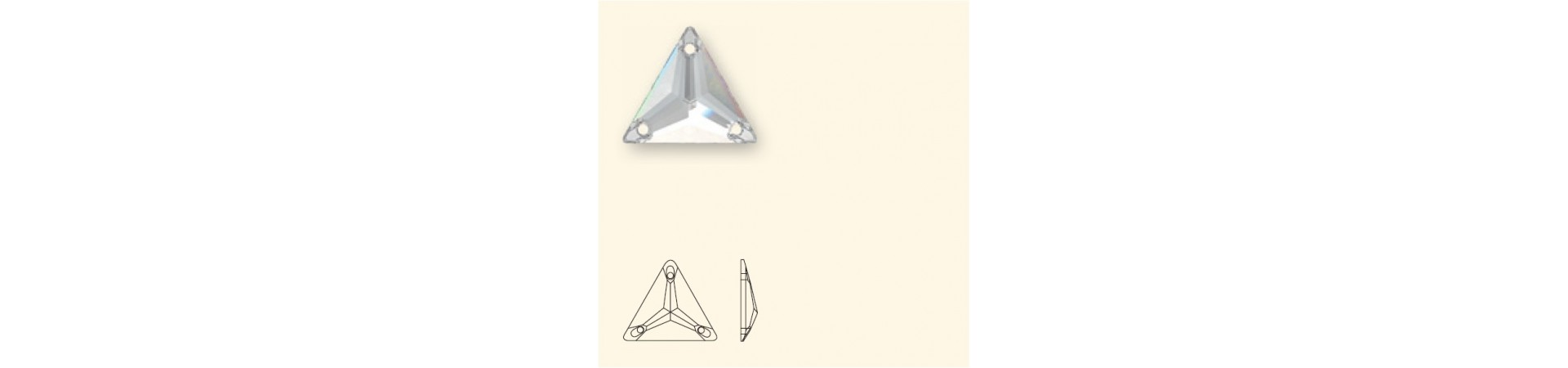 3270 Triangle (Kolmnurk) Õmmeldav Kristall