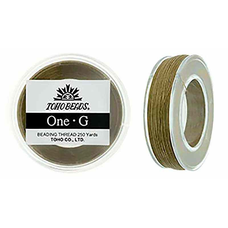 Sand Ash TOHO One-G Beading Thread Bobbin 228.6m (250yd) long