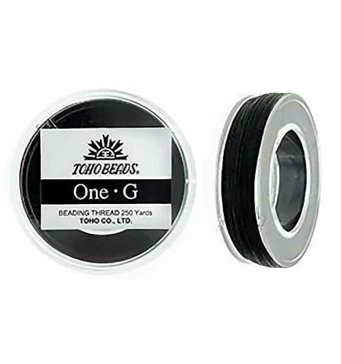 Чёрная ТОХО One-G Нить для Бисероплетения в катушке 228.6m (250 ярдов) длиной