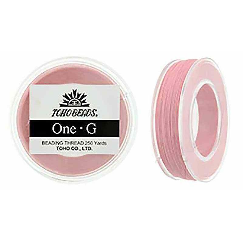 Розовая ТОХО One-G Нить для Бисероплетения в катушке 228.6m (250 ярдов) длиной