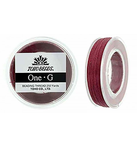 Burgundy TOHO One-G Beading Thread Bobbin 228.6m (250yd) long
