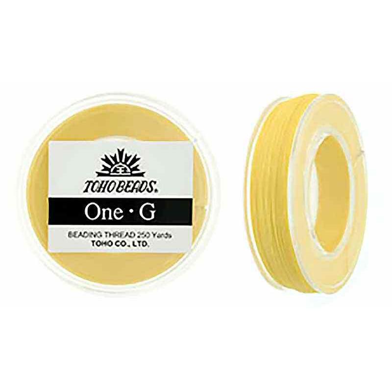Светло-желтая ТОХО One-G Нить для Бисероплетения в катушке 228.6m (250 ярдов) длиной