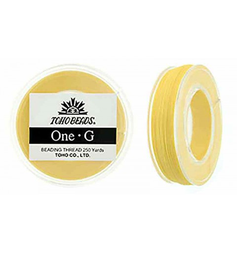 Light Yellow TOHO One-G Beading Thread Bobbin 228.6m (250yd) long