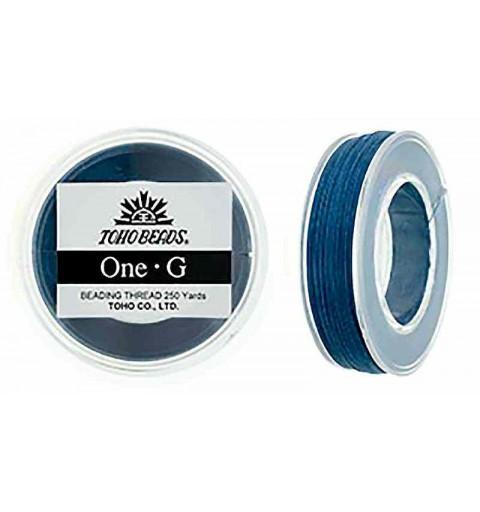 Blue TOHO One-G Beading Thread Bobbin 228.6m (250yd) long