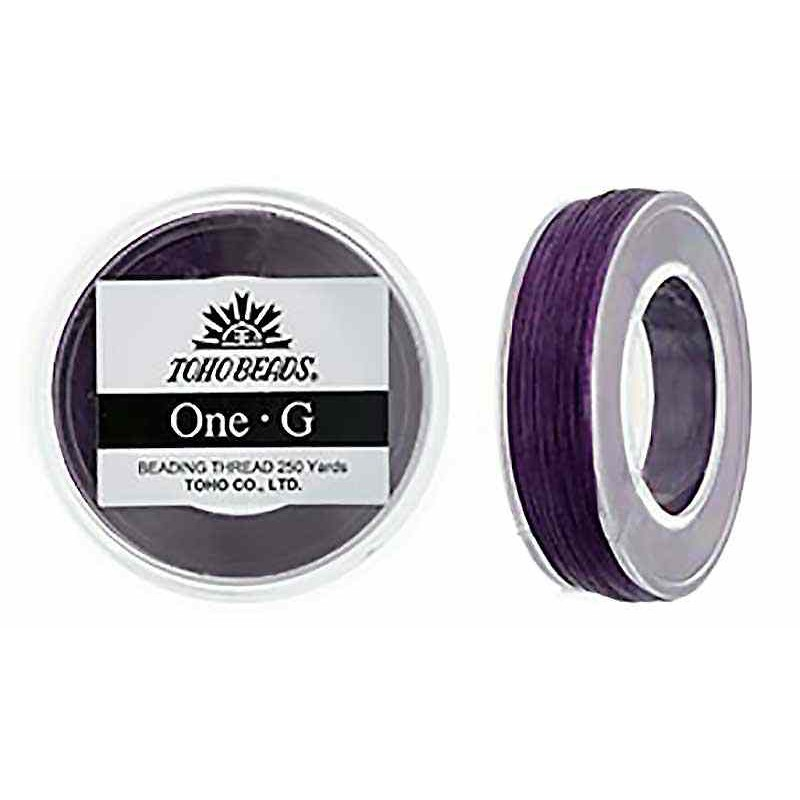 Purple TOHO One-G Beading Thread Bobbin 228.6m (250yd) long