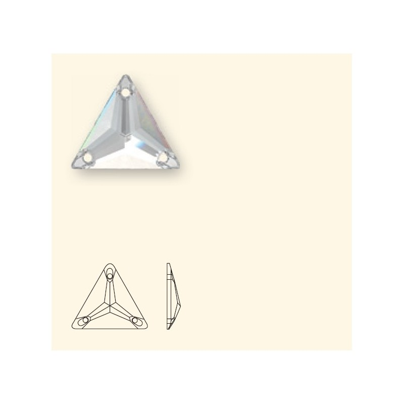 16MM CRYSTAL AB F (001 AB) 3270 Triangle SWAROVSKI ELEMENTS