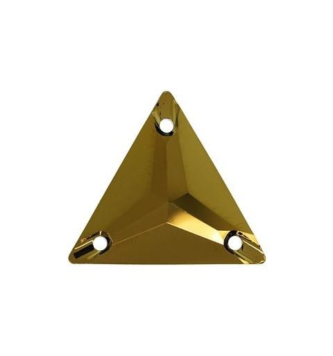 16MM Crystal Dorado F (001 DOR) 3270 Triangle SWAROVSKI ELEMENTS