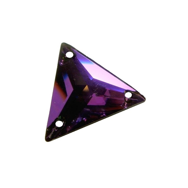 22MM Crystal Heliotrope (001 HEL) 3270 Triangle SWAROVSKI ELEMENTS