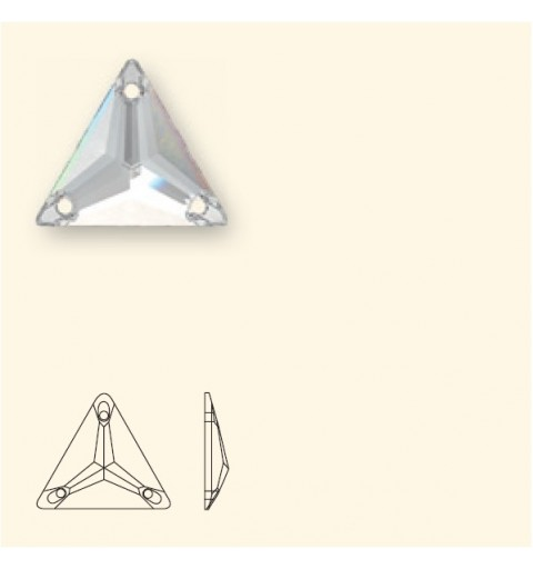 22MM Crystal Heliotrope (001 HEL) 3270 Triangle SWAROVSKI ELEMENTS