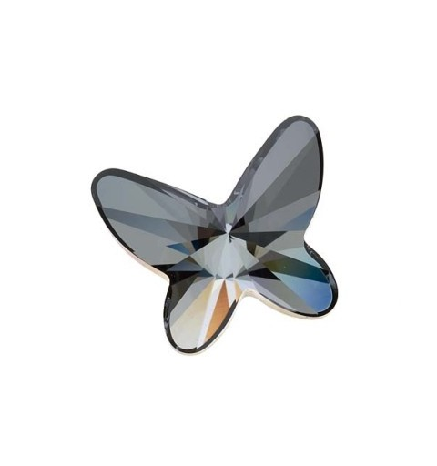 8MM Crystal Silver Night F (001 SINI) 2854 Butterfly SWAROVSKI ELEMENTS
