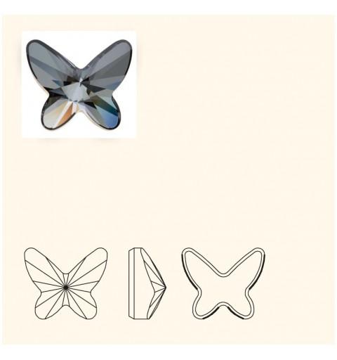 8MM Crystal Silver Night F (001 SINI) 2854 Butterfly SWAROVSKI ELEMENTS