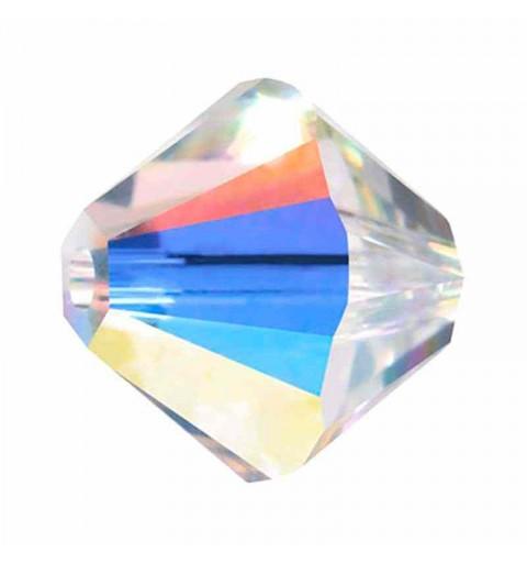 3MM Crystal AB (001 AB) 5328 XILION Bi-Cone Beads SWAROVSKI
