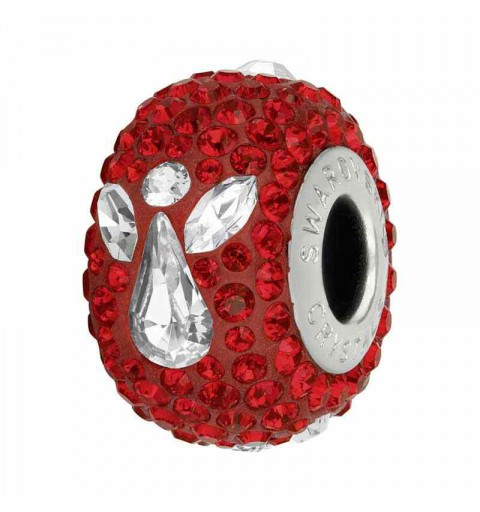 15mm Light Siam (227) 81933 Angel BeCharmed Pavé Bead Swarovski