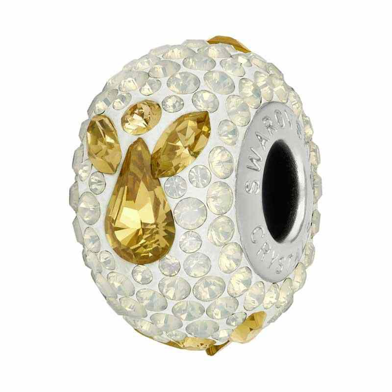 15mm White Opal (234) 81933 Angel BeCharmed Pavé Bead Swarovski