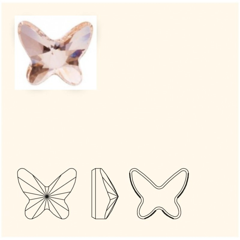 8MM Silk F (391) 2854 Butterfly SWAROVSKI ELEMENTS