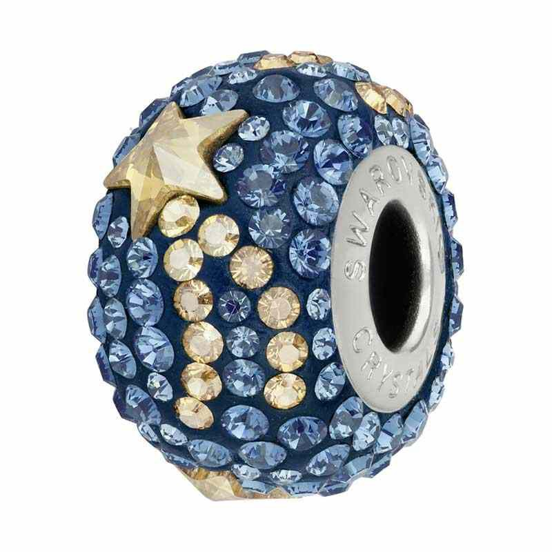 15mm Montana (207) 81922 Shooting Star BeCharmed Pavé бусина Swarovski