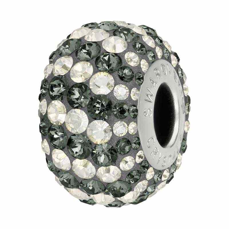 14mm Crystal Silver Night (001 SINI) 82152 Candy BeCharmed Pavé бусина Swarovski