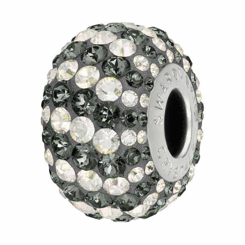 14mm Crystal Silver Night (001 SINI) 82152 Candy BeCharmed Pavé Bead Swarovski