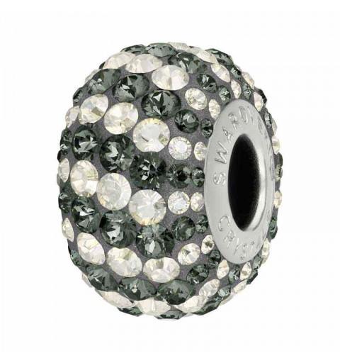 14mm Crystal Silver Night (001 SINI) 82152 Candy BeCharmed Pavé Bead Swarovski