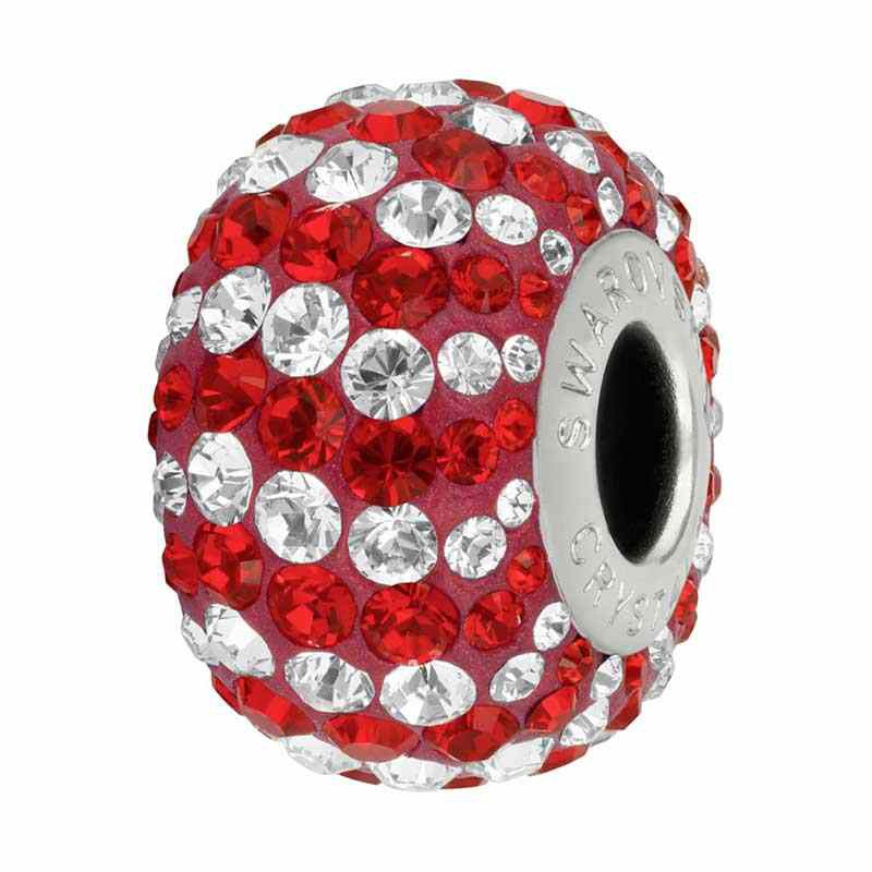 14mm Light Siam (227) 82152 Candy BeCharmed Pavé Bead Swarovski
