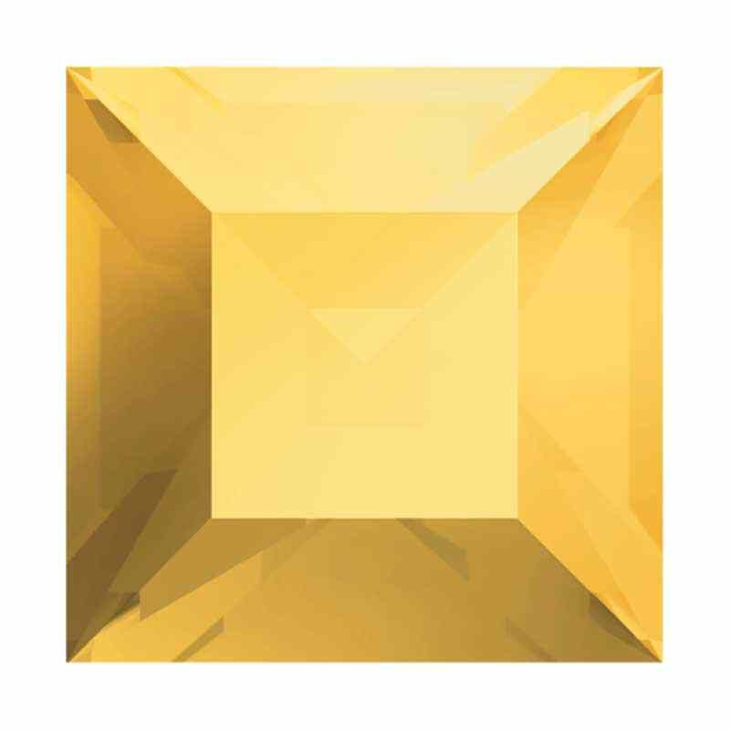 8mm Crystal Metallic Sunshine F Square 4428 Fancy Stone Swarovski
