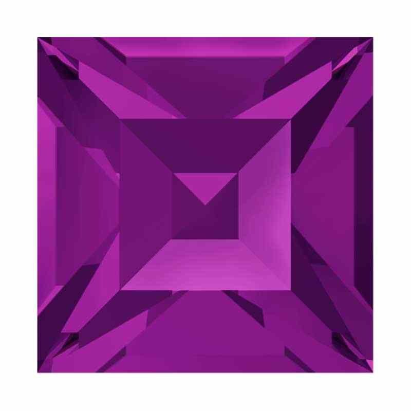 8mm Amethyst F (204) Square 4428 Fancy Stone Swarovski